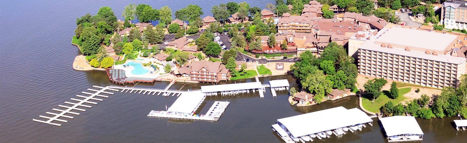 Aerial View of Margaritaville Lake Resort Lake of the Ozarks