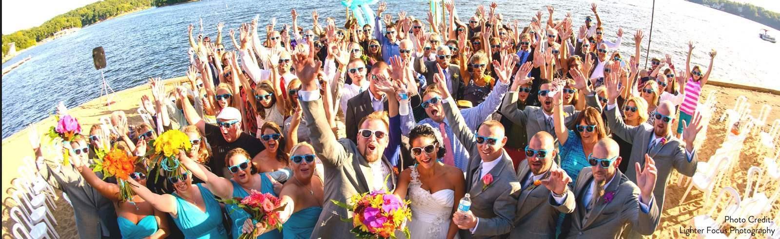 Wedding of Margaritaville Lake Resort Lake of the Ozarks Osage Beach Missouri