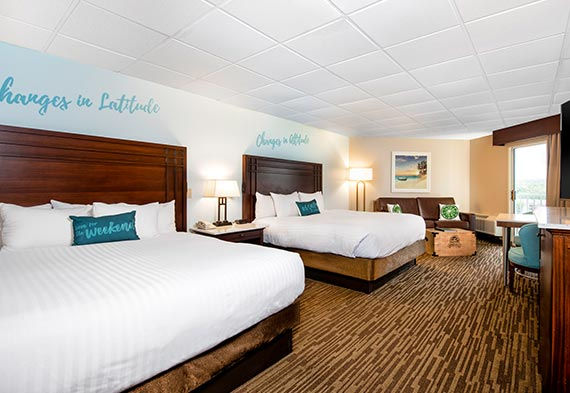 Guest Room Double King Rooms At Margaritaville Lake Resort Lake Of The Ozarks Missouri