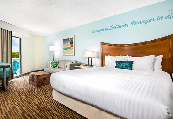 Guest Room Single King At Margaritaville Lake Resort Lake Of The Ozarks Missouri